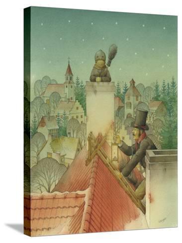 Chimney-Sweep Christmas 02, 2001-Kestutis Kasparavicius-Stretched Canvas Print