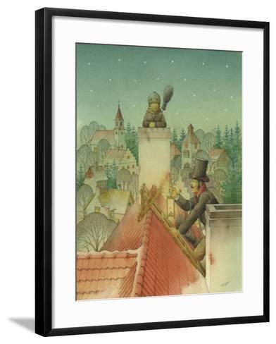 Chimney-Sweep Christmas 02, 2001-Kestutis Kasparavicius-Framed Art Print