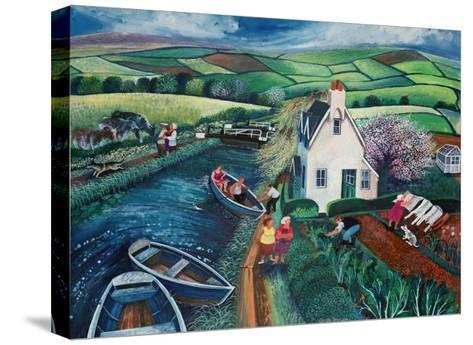 St Catherines Lock-Lisa Graa Jensen-Stretched Canvas Print