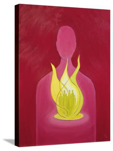 With God's Love We Can Help Pray for Those We Carry in Our Hearts, 2000-Elizabeth Wang-Stretched Canvas Print
