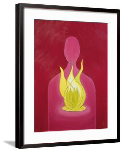 With God's Love We Can Help Pray for Those We Carry in Our Hearts, 2000-Elizabeth Wang-Framed Art Print
