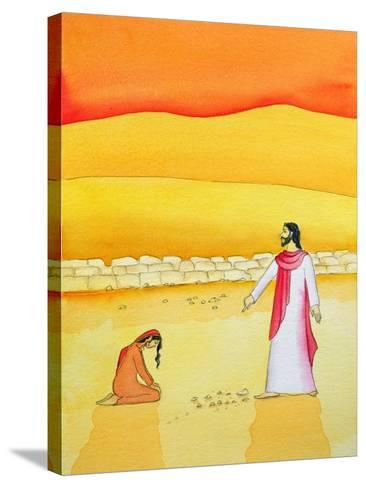 Jesus Forgives the Woman Caught in Adultery, 2006-Elizabeth Wang-Stretched Canvas Print