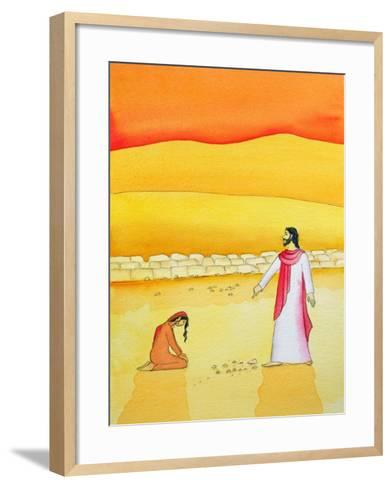Jesus Forgives the Woman Caught in Adultery, 2006-Elizabeth Wang-Framed Art Print