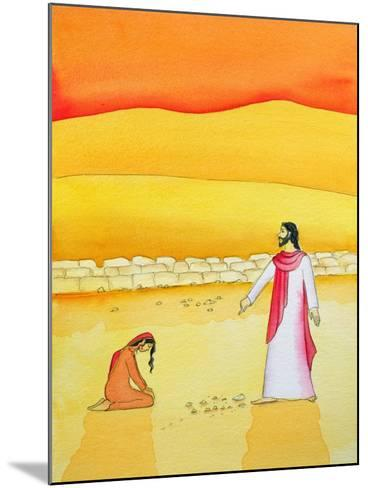 Jesus Forgives the Woman Caught in Adultery, 2006-Elizabeth Wang-Mounted Giclee Print