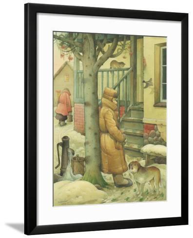 Russian Scene 03, 1994-Kestutis Kasparavicius-Framed Art Print