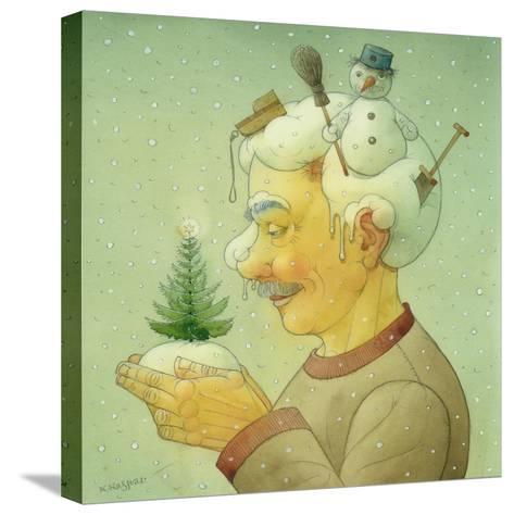 Snowy Winter, 2006-Kestutis Kasparavicius-Stretched Canvas Print