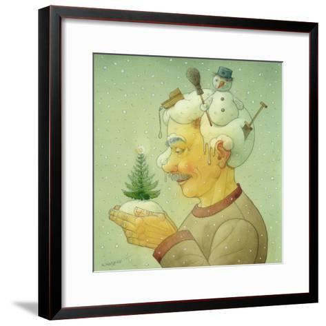 Snowy Winter, 2006-Kestutis Kasparavicius-Framed Art Print