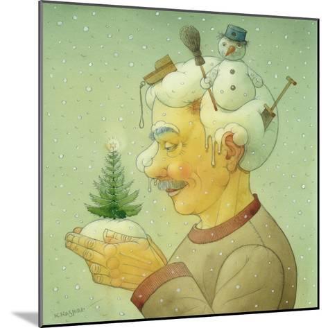 Snowy Winter, 2006-Kestutis Kasparavicius-Mounted Giclee Print