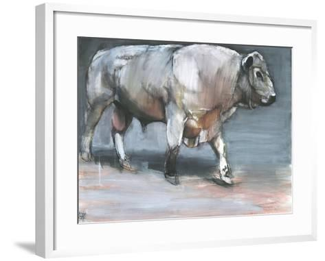 Fresno, Galloway Bull-Mark Adlington-Framed Art Print