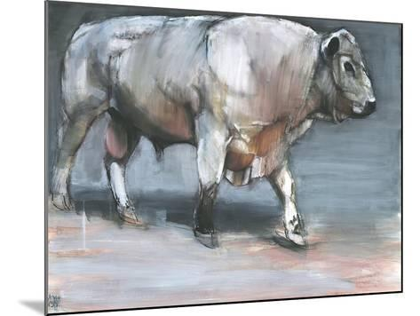 Fresno, Galloway Bull-Mark Adlington-Mounted Giclee Print