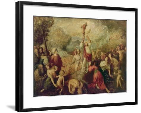 Moses and the Brazen Serpent, 1898-Augustus Edwin John-Framed Art Print