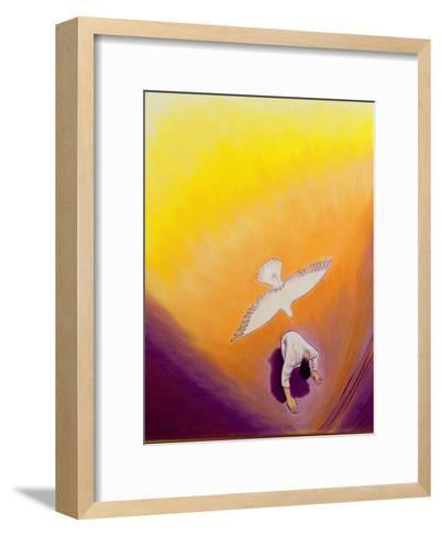 The Same Spirit Who Comforted Christ in Gethsemane Can Console Us, 2000-Elizabeth Wang-Framed Art Print