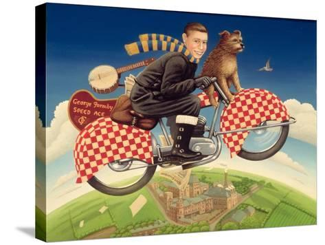 George Formby - Speed Ace, 1989-Frances Broomfield-Stretched Canvas Print