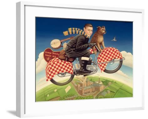 George Formby - Speed Ace, 1989-Frances Broomfield-Framed Art Print