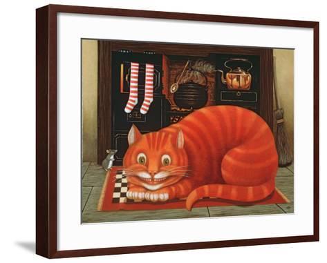 The Cheshire Cat, 1993-Frances Broomfield-Framed Art Print