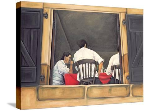 Chef and Waiters Having Service Lunch, 1999-Peter Breeden-Stretched Canvas Print