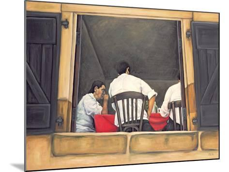 Chef and Waiters Having Service Lunch, 1999-Peter Breeden-Mounted Giclee Print