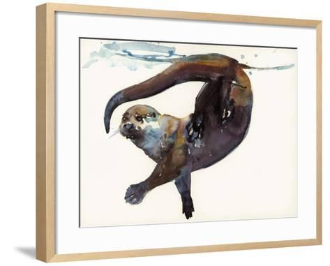 Otter Study II -'Talisker'-Mark Adlington-Framed Art Print