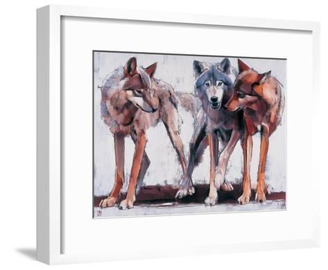 Pack Leaders, 2001-Mark Adlington-Framed Art Print