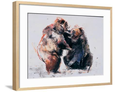 European Brown Bears, 2001-Mark Adlington-Framed Art Print