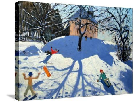 Les Gets-Andrew Macara-Stretched Canvas Print