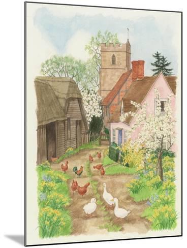 Church and Farm Track, 1998-Linda Benton-Mounted Giclee Print