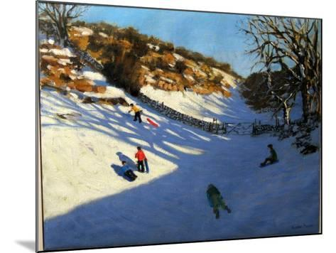 Snow in the Valley, Near Monyash, Derbyshire-Andrew Macara-Mounted Giclee Print