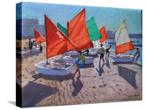 Red Sails, Royan, France-Andrew Macara-Stretched Canvas Print