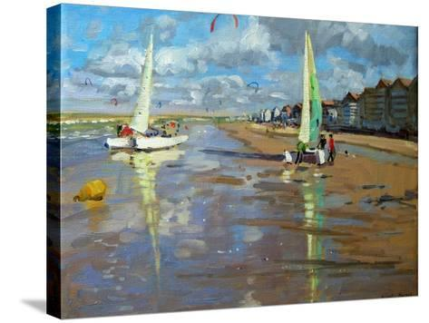 Reflection, Bray Dunes, France-Andrew Macara-Stretched Canvas Print
