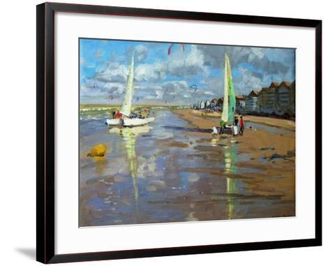 Reflection, Bray Dunes, France-Andrew Macara-Framed Art Print