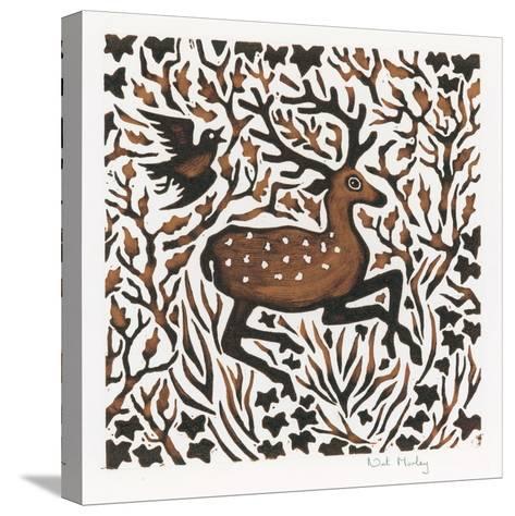 Woodland Deer, 2000-Nat Morley-Stretched Canvas Print