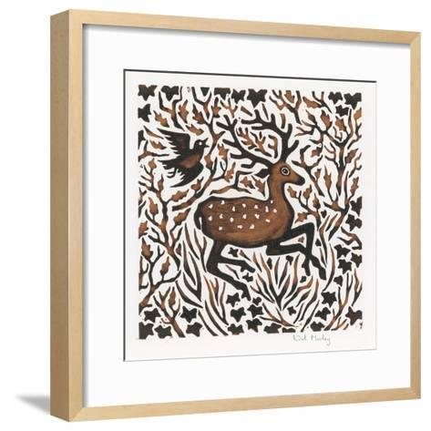 Woodland Deer, 2000-Nat Morley-Framed Art Print
