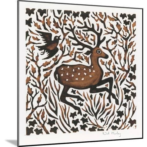 Woodland Deer, 2000-Nat Morley-Mounted Giclee Print