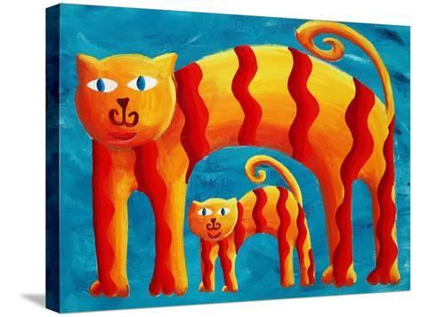 Curved Cats, 2004-Julie Nicholls-Stretched Canvas Print