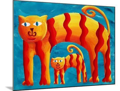 Curved Cats, 2004-Julie Nicholls-Mounted Giclee Print