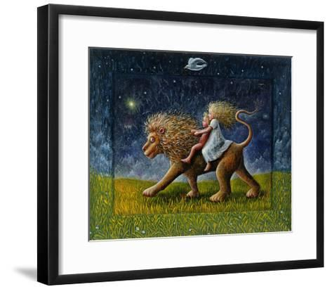 The Infants and the Lion, 1978-P.J. Crook-Framed Art Print