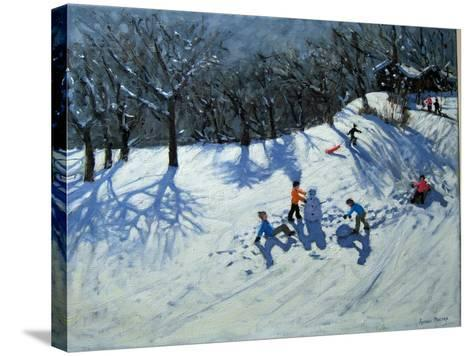 The Snowman-Andrew Macara-Stretched Canvas Print