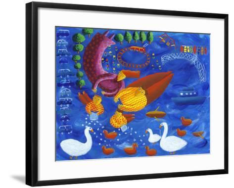 Feeding the Ducks, 2003-Julie Nicholls-Framed Art Print