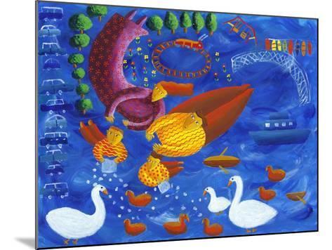 Feeding the Ducks, 2003-Julie Nicholls-Mounted Giclee Print