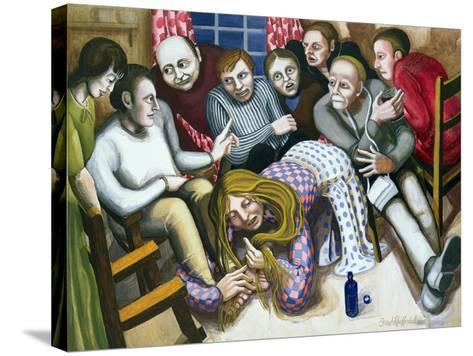 Mary Anointing Jesus' Feet, 1998-Dinah Roe Kendall-Stretched Canvas Print