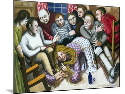 Mary Anointing Jesus' Feet, 1998-Dinah Roe Kendall-Mounted Giclee Print