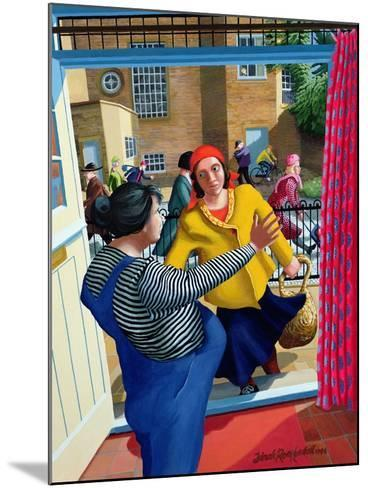 Mary Meets Elizabeth, 1996-Dinah Roe Kendall-Mounted Giclee Print