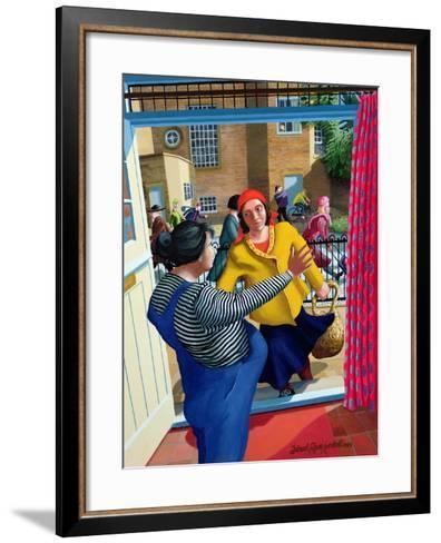 Mary Meets Elizabeth, 1996-Dinah Roe Kendall-Framed Art Print