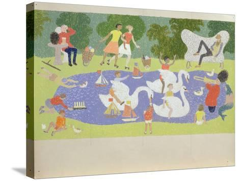 The Fantastic Park, 1961-John Armstrong-Stretched Canvas Print