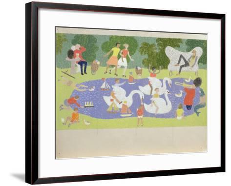 The Fantastic Park, 1961-John Armstrong-Framed Art Print