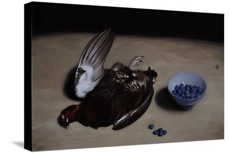 Grouse and Blueberries, 2008-James Gillick-Stretched Canvas Print
