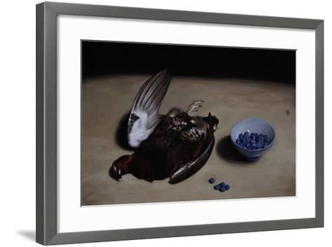Grouse and Blueberries, 2008-James Gillick-Framed Art Print