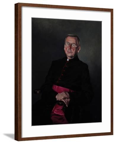 Portrait of Monsignor Dazeley, 2008-James Gillick-Framed Art Print