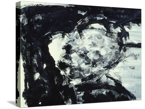 Kitaj with His Hand on His Head, 1995-Stephen Finer-Stretched Canvas Print