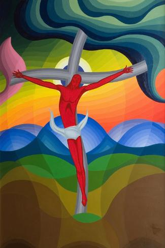 On the Cross, 1992-Emil Parrag-Stretched Canvas Print